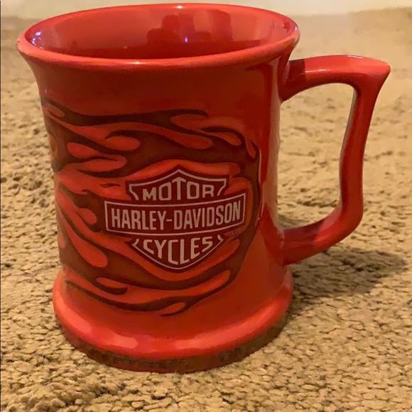 Harley-Davidson Other - Red Flame Harley-Davidson coffee mug